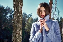 Piękna seksowna kobieta splendoru mody modela odzież elegancka Zdjęcie Royalty Free