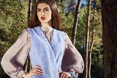 Piękna seksowna kobieta splendoru mody modela odzież elegancka odziewa Fotografia Royalty Free