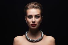 Piękna seksowna kobieta w biżuterii Obraz Stock