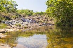 Piękna siklawa Minas Ge - Serra da Canastra park narodowy - obraz royalty free