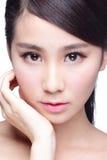 Piękna skóry opieki kobiety twarz Obrazy Stock