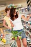 piękna sklep spożywczy zakupy sklepu kobieta Obrazy Stock