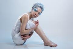 piękna smokingowa biała kobieta Fotografia Stock
