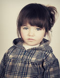 Piękna smutna mała dziewczynka Obraz Royalty Free