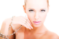 piękna splendoru makeup portreta prezentaci kobieta Obrazy Royalty Free