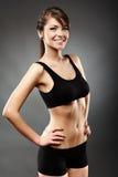 Piękna sport kobieta z ręką na biodrach Obraz Royalty Free