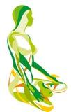 piękna sprawności fizycznej joga Zdjęcia Royalty Free