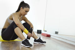 Piękna sprawności fizycznej kobieta obraz stock
