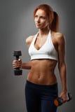Piękna sprawności fizycznej kobieta obrazy stock
