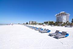 Piękna St Pete plaża, Floryda obraz stock