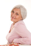 Piękna stara kobieta obraz royalty free