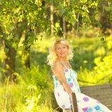 Piękna starsza blondynki kobieta Zdjęcie Stock
