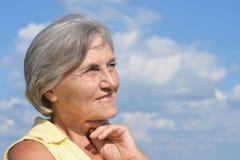 piękna starsza kobieta Fotografia Royalty Free