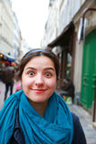 Piękna studencka dziewczyna w Paryż Fotografia Royalty Free