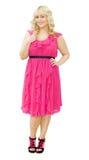 piękna sukni przyjęcia menchii kobieta Zdjęcia Stock