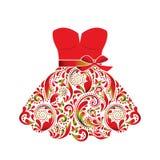 Piękna suknia. ilustracja wektor