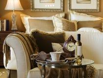 piękna sypialnia szczegół Fotografia Royalty Free