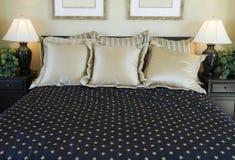 piękna sypialnia szczegół Obrazy Royalty Free