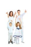 Piękna szczęśliwa rodzina Zdjęcia Royalty Free