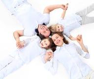 Piękna szczęśliwa rodzina obrazy stock