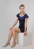 Ładna kobieta w klasycznej sukni zdjęcia royalty free
