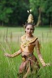 Piękna Tajlandzka dama w Tajlandzkiej tradycyjnej dramat sukni Zdjęcie Royalty Free