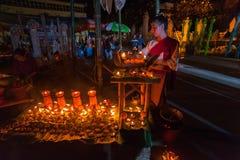 Piękna tajlandzka kobiety odzieży tradycyjna bawełna wyplatająca Zdjęcia Royalty Free