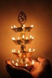 Piękna tradycyjna indyjska lampa, festiwalu pojęcie Obraz Stock