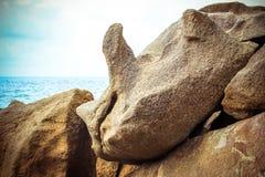 Piękna tropicalrock plaża Koh Samui Obraz Royalty Free