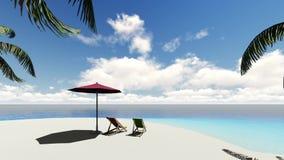 Piękna tropikalna plażowa wyspa ilustracja wektor