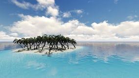 Piękna tropikalna plażowa wyspa royalty ilustracja