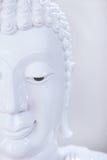 Piękna twarz biały Buddha wizerunek Fotografia Royalty Free