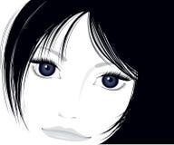 piękna twarz dobrze dotyku Zdjęcia Stock