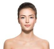 Piękna twarz Nastoletnia dziewczyna Fotografia Stock
