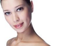 piękna twarzy kobieta zdjęcie royalty free