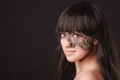 piękna twarzy maswerku kobiety potomstwa Obraz Stock