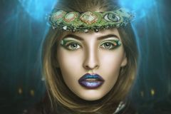 piękna twarzy moda uzupełniająca kobieta obrazy stock