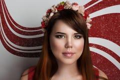 piękna twarzy moda uzupełniająca kobieta Zdjęcia Stock