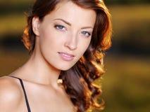 piękna twarzy piękny seksowna kobieta Zdjęcia Stock