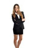 Piękna uśmiechnięta biznesowa kobieta Zdjęcie Stock