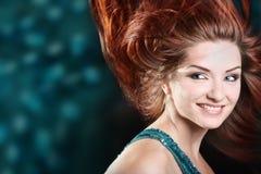 piękna uśmiechnięta kobieta zdjęcia stock