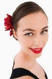 piękna uśmiechnięta kobieta Fotografia Royalty Free