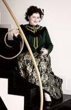 Piękna uśmiechnięta kobieta era renesans Obrazy Royalty Free