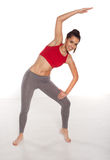 Piękna kobieta robi joga obrazy royalty free
