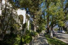 Piękna ulica na Południowym Pasadena obrazy stock