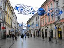 Pi?kna ulica stary miasto w Krakow zdjęcie royalty free