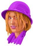 piękna uroda makijaż oczu charakteru naturalnej portret kobiety Obrazy Stock