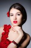 piękna uroda makijaż oczu charakteru naturalnej portret kobiety fotografia royalty free