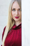 piękna uroda makijaż oczu charakteru naturalnej portret kobiety Fotografia Stock