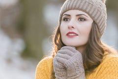 piękna uroda makijaż oczu charakteru naturalnej portret kobiety Zdjęcia Stock